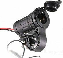Versand kostenlos Kfz-Halterung für Lenker-Plug Adapter für Motorrad/Roller/Motorrad Lighter Socket Plug Handlebar Mount Adapter