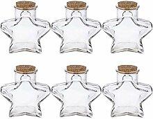 versandfuxx24 - Glasdose Stern mit Korken 6er Set