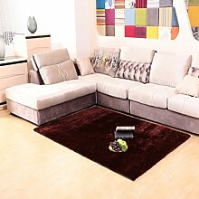 Verschlüsseln Sie helle Seidenteppich/Wohnzimmer Couchtisch Bett Schlafzimmer Teppich-J 120x170cm(47x67inch)