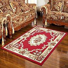 Verschlüsseln Verdickung Teppich Wohnzimmer Schlafzimmer Bett/ Couchtisch Retro-Teppich-C 130x188cm(51x74inch)