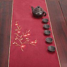 Verschönert & bestickt,tea curtain table flag/japanese-style,tea zeremonie table flag-C 33x300cm(13x118inch)