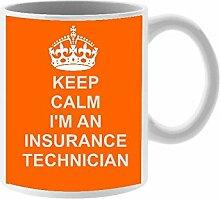 Versicherung Techniker Keramik Tasse Design auf