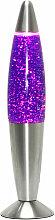 Verspielte Lavalampe TIMMY Lila Glitter H:33cm