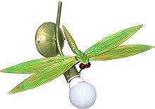 Verspielte Wandleuchte in Grün Weiß Floraler Stil 1x E27 bis zu 60 Watt 230V aus Metall & Flur Wohnzimmer Esszimmer Lampen Leuchte innen Wandlampe