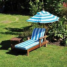 Verstellbare Gartenliege Novak mit Auflage und
