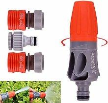 Verstellbare TPR Gummi Beschichtung Spray Düse Garten Bewässerung Auto waschen Spritze mit Anschlüsse von shopidea