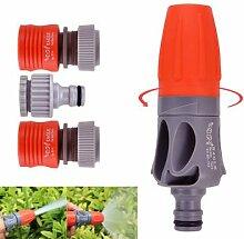 Verstellbare TPR Gummi Beschichtung Spray Düse Garten Bewässerung Auto waschen Spritze mit Konnektoren ^.