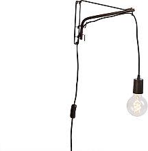 Verstellbare Vintage Wandlampe 30 cm aus Stahl mit