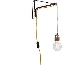 Verstellbare Vintage Wandlampe 30 cm mit