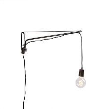 Verstellbare Vintage Wandlampe 60cm aus Stahl mit