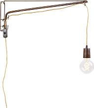 Verstellbare Vintage Wandlampe 60cm mit
