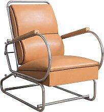 Verstellbarer Sessel mit Stahlrohrgestell & Sitz