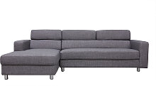 Verstellbares Design-Ecksofa (Ecke links) PORTLAND