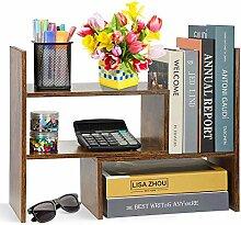 Verstellbares Schreibtisch-Bücherregal,