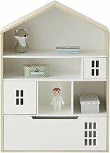 Vertbaudet Kinderzimmer-Schrank Maison Natur/weiß