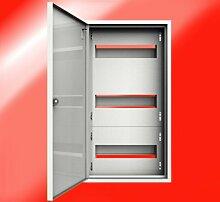 Verteiler Stromverteiler 36 Sicherungen Kleinverteiler Sicherungskasten stahlverzinkt Aufputz Aufputzverteiler Stromverteiler