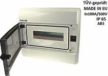 Verteilerkasten RHp12 UP IP65 Feuchtraumverteiler 12 module Unterputz Sicherungskasten