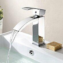 Vertikale Waschtischarmaturen Waschbecken Einhand-Wasserhahn für Badzimmer