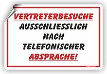 VERTRETERBESUCHE nach telefonischer Absprache! -
