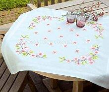 Vervaco Apfelblüten Stickpackung/Tischdecke im