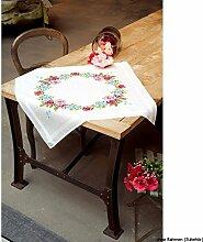 Vervaco Blumenkranz Stickpackung/Tischdecke im
