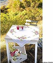 Vervaco Frühlingsblumen Stickpackung/Tischdecke