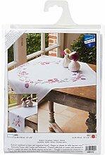 Vervaco Lila Blumen Stickpackung/Tischdecke im