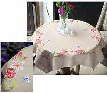 Vervaco PN-0021750 Decke Rosa Blumen mit Schmetterlingen