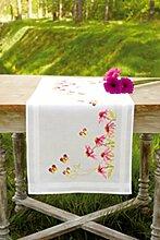 Vervaco PN-0149412 VER Läufer Sonnenhut & Schmetterlinge