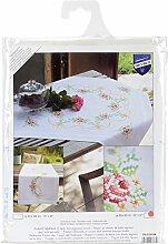 Vervaco PN-0150104 Stickerei, Tischdecke, Rosengirlande, Aida, mehrfarbig, 80 x 2 x 20 cm