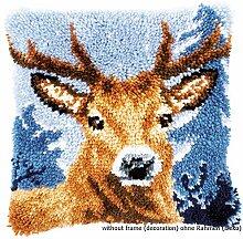 Baumwolle ca 40 x 40 cm // 16 x 16 Vervaco PN-0163875 Hirsch Kn/üpfpackung Kissen mehrfarbig