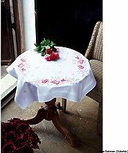 Vervaco Rosa Rosen Stickpackung/Tischdecke im