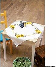 Vervaco Sonnenblümchen Stickpackung/Tischdecke im