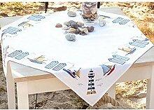 Vervaco Tischdecke Entlang der Küste aida Decke mit Zählmuster, Baumwolle, Mehrfarbig, 80.0 x 80.0 x 0.30000000000000004 cm, 1 Einheiten