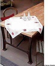 Vervaco Tischdecke Stolzer Hirsch aida Decke mit Zählmuster, Baumwolle, Mehrfarbig, 80.0 x 80.0 x 0.30000000000000004 cm, 1 Einheiten