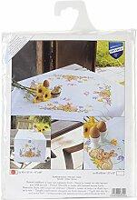 Vervaco Tischläufer ZollKaninchen Bedruckte Decke/Läufer mit Webrand, Baumwolle, Mehrfarbig, 40.0 x 100.0 x 0,3 cm, 1 Einheiten
