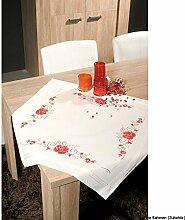 Vervaco Zierliche Rosen Stickpackung/Tischdecke im