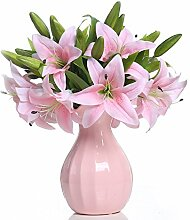 Veryhome 5 Stück Künstliche Lilie Gefälschte