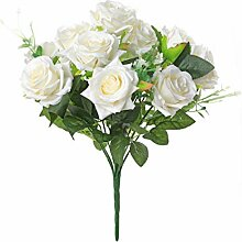 Veryhome Künstlich Rose Seide Rose Blumenstrauß