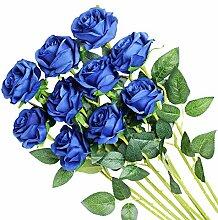 Veryhome Künstliche Blumen Seidenrosen Real Touch