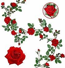 Veryhome Künstliche Seide Rose Garland Vine Silk