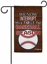 Verzauberte Gartenflaggen,Happy Baseball Saison