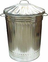 verzinkt Metall Garten Kosmetikeimer Garage groß Mülleimer Garbage Kompost Eco 90L
