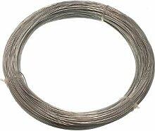 Verzinkte Gartenzaun Wire 1 mm 80 Meter ( 1 Rolle 500G Gewicht)