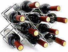 VESONNY Weinregal aus Metall für 10 Flaschen,