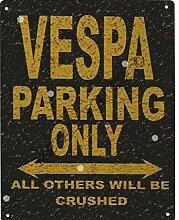 Vespa Metall Parking Rustikaler Stil den großen 30,5x 40,6cm 30x 40cm Auto Schuppen Dose Garage Werkstatt Art Wand Spiele Raum