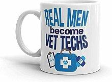 Vet Tech Funny Real Men Kaffeetasse