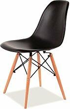 Vetrostyle Design Stuhl ENZO schwarz SCANDINAVIA