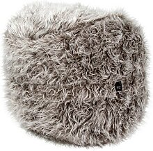 vetsak Footsak Fußhocker Flokati, 45x60 cm, grey