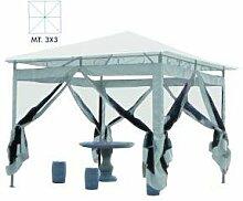 Vette cdf05131Pavillon mit Moskitonetz, Metall, Weiß